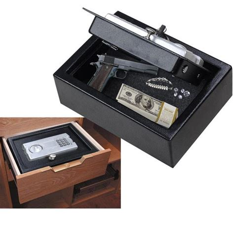 digital pistol drawer safe box black the display outlet