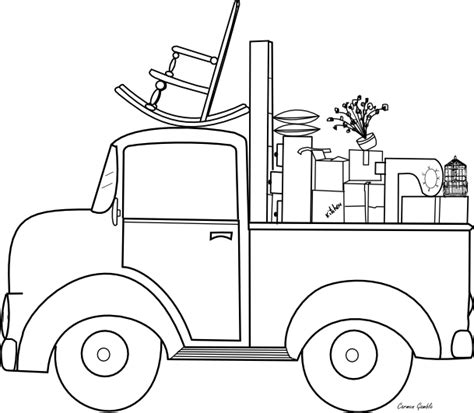 moving van coloring page beyond the fringe moving day freebie
