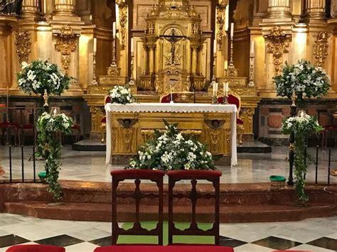 decoracion murcia decoracion de boda religiosa en iglesia san nicolas
