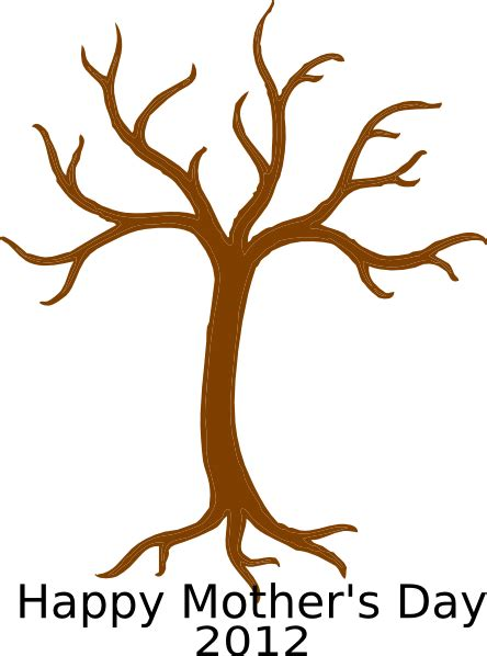 free tree templates s day handprint tree template clip at clker