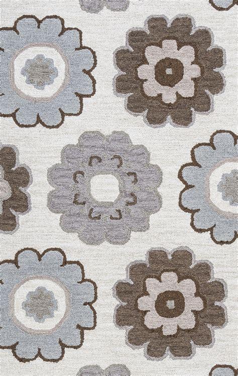flower pattern rugs maggie belle dainty flower pattern wool area rug in grey