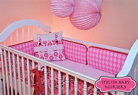 How To Make Crib Bedding Stylish Baby Nursery Crib Bumpers In Two Cool Fabs Sew4home