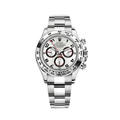 rolex daytona silver 18 ct white gold 40 mm oyster