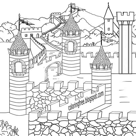 medieval castle coloring page free coloring pages printable pictures to color kids