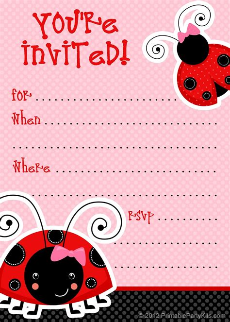 free printable ladybug birthday decorations free ladybug party invitations from