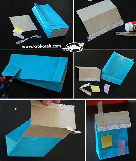 How To Make A Paper Roof - krokotak advent calendar paper bag houses