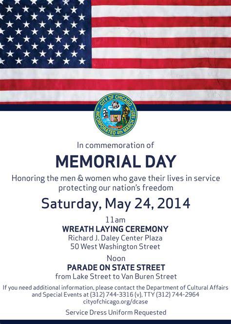 Richies Memorial Day Invitation by Memorial Day Parade Chicago Loeber Motors