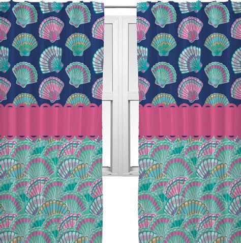 preppy curtains preppy sea shells curtains 20 quot x84 quot panels unlined 2
