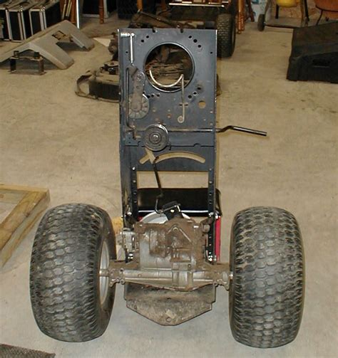 Flipped Clutch transaxle bolted in frame flipped up and clutch