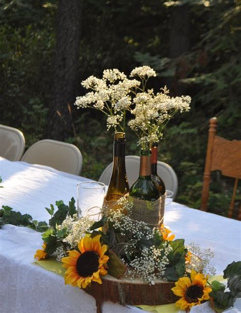 rustic wine bottle centerpieces 28 wine bottle centerpieces for every occasion shelterness