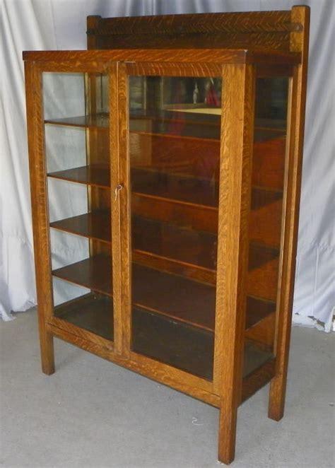 Bargain John's Antiques » Blog Archive Antique Mission Oak China Cabinet original finish