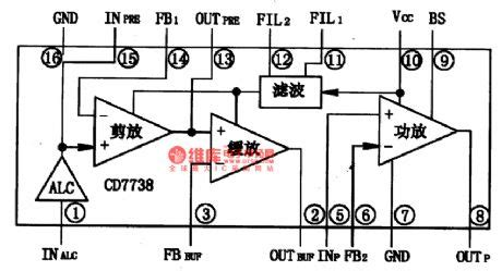 integrated circuit records the cd7738 single chip record playback integrated circuit circuit diagram world