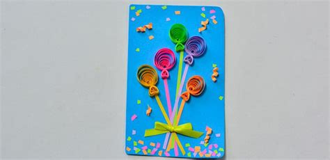 How Do You Make A Paper Balloon - how do you make a colorful quilling paper balloon blessing