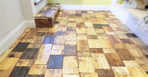 diy wood floor l our diy pallet wood floor cost only 100 bored panda