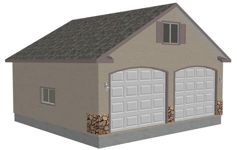 garage plans g433 30 x 30 detached garage with bonus truss sds plans