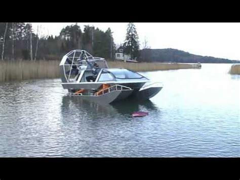 fan boat on ice airboat in water youtube