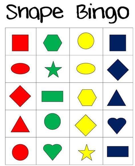 printable bingo cards with shapes little piles everywhere shape bingo