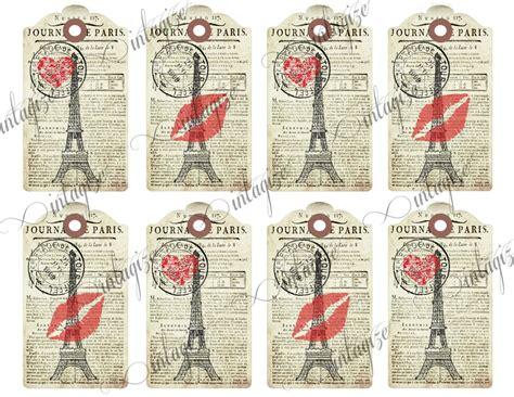 printable paris bookmarks valentine printable vintage french je t aime paris