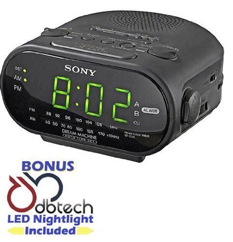 radios alarm clock radio and clock on