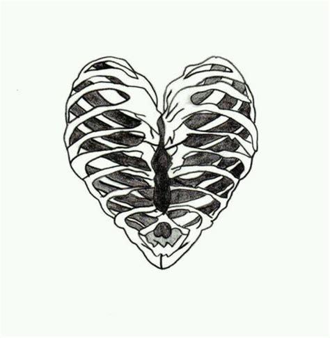 heart tattoos rib cage heart skeleton rib cage sick randoms pinterest