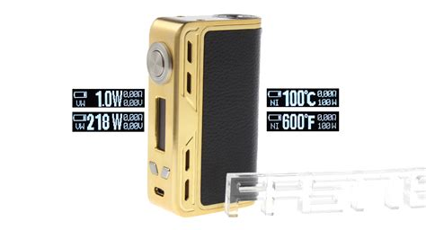 Smoant Charon Tc 218w Gold 38 07 authentic smoant charon 218w tc vw apv box mod 1 218w 200 600 f 100 300 c 2 18650