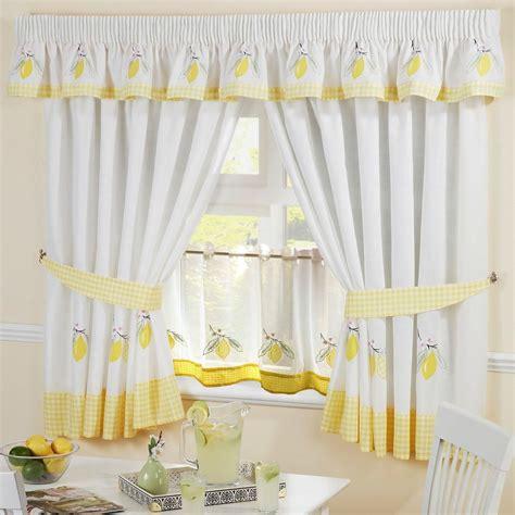 24 kitchen curtains lemon gingham embroidered kitchen curtains pelmet 24