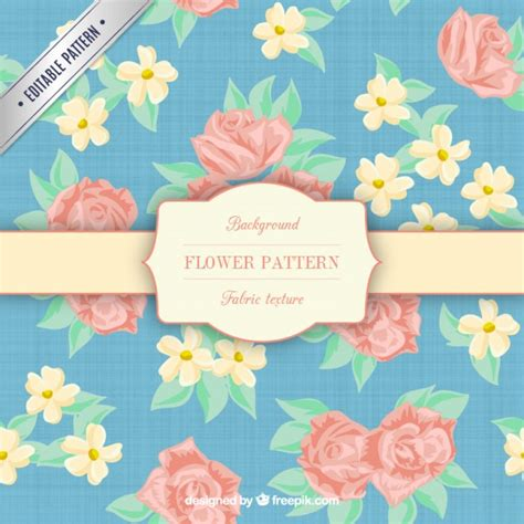 new year flower texture flower pattern in fabric texture vector free