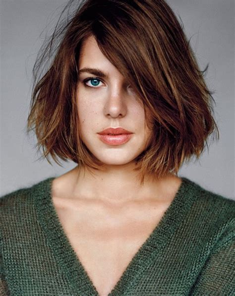 charlotte casiraghi haircut messy straight bob popular