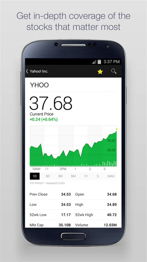 samsung yahoo finance yahoo finance app redesigned for android android community