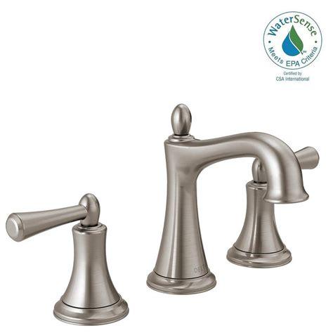 bathroom faucets brushed nickel widespread delta rila 8 in widespread 2 handle bathroom faucet in