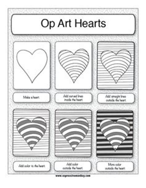 printable optical illusions lesson plans 8 best images of op art worksheets printable how to step