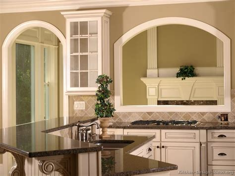 Mediterranean Home Designs Pictures Of Kitchens Traditional Two Tone Kitchen
