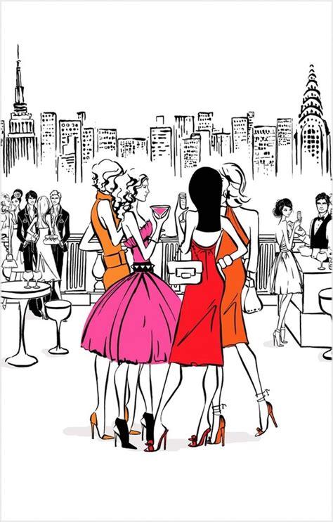 fashion illustration nyc dress fashion friends new york image 603830 on favim