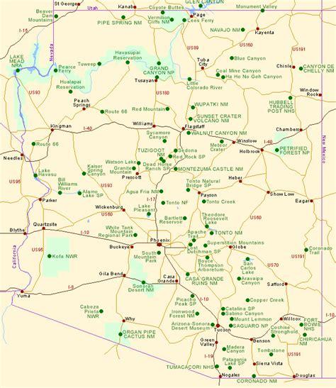 map of arizona map of arizona