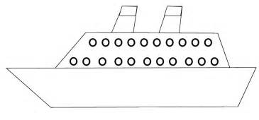 Simple ship outline ship outline ship clipart