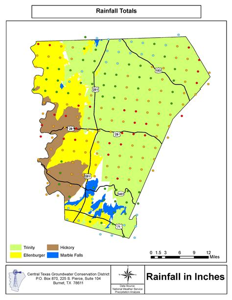 rainfall map texas 2012 rainfall maps central texas groundwater conservation district