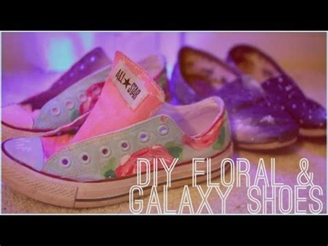 diy floral shoes diy galaxy and floral print shoes