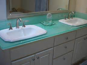glass bathroom sinks countertops glass countertops