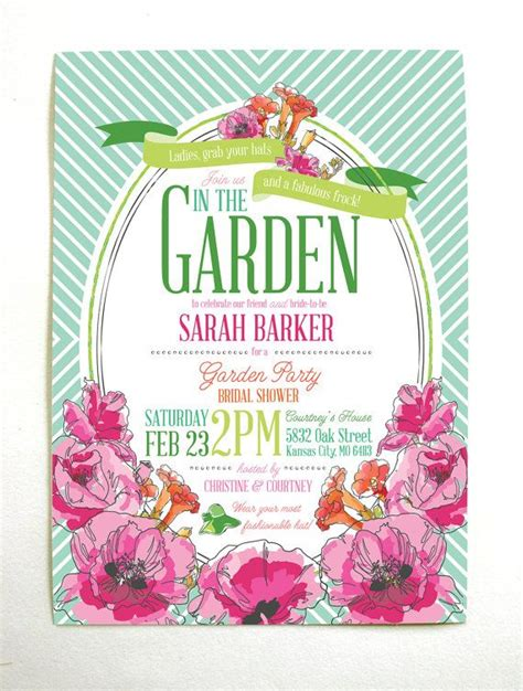 25 Best Ideas About Garden Party Invitations On Pinterest Garden Theme Garden Parties And Garden Wedding Invitations Templates