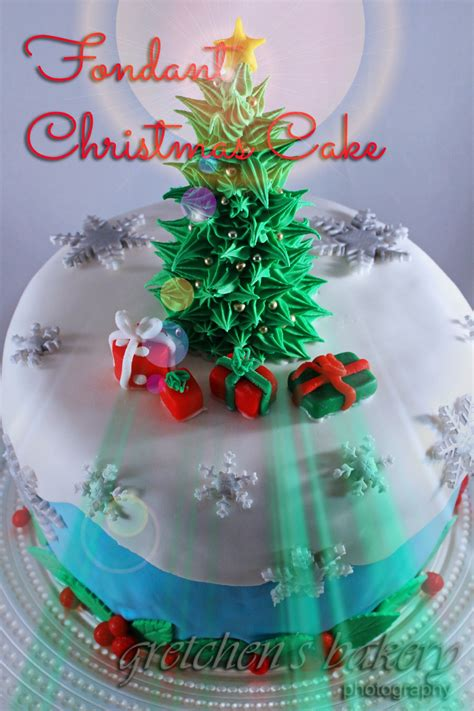 fondant christmas tree cake gretchen s bakery