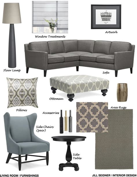 living room furnishings concept board jill seidner cambridge ma online design project living room