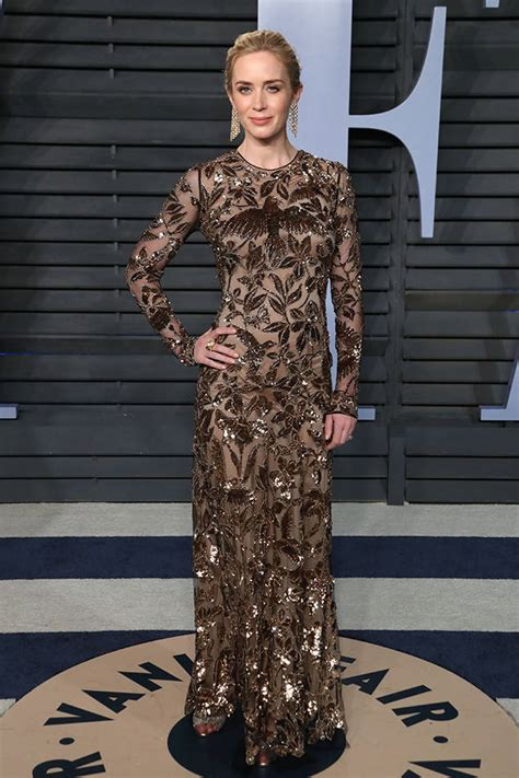 Vanity Fair Sweepstakes - emily blunt from 2018 vanity fair oscars after party e news