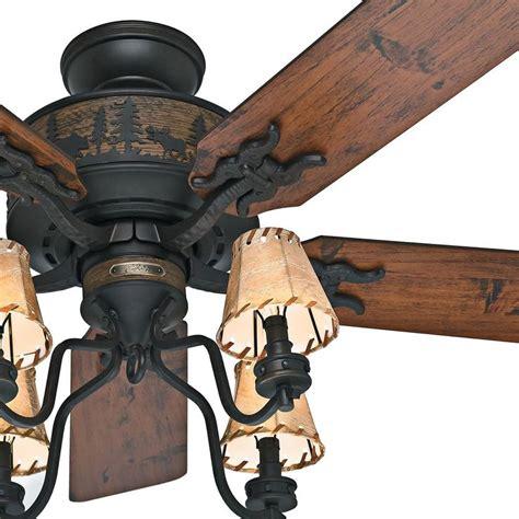rustic wood ceiling fans 52 quot bronze rustic cabin ceiling fan w 4