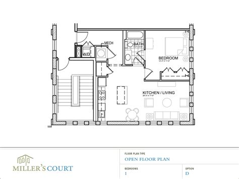 floor plane one bedroom apartment open floor plans peenmedia com