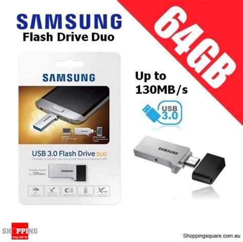 Usb Samsung 64gb samsung flash drive duo 64gb usb 3 0 up to 130mb s micro
