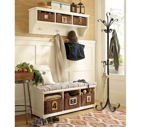 pottery barn entryway bench and shelf front entrance freshening satori design for living