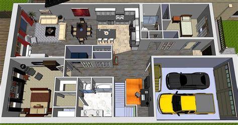 3 bed bungalow floor plans 3 bedroom bungalow floor plans open concept 3d images