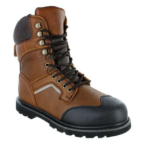 rugged work boots rugged blue 8 quot soft toe waterproof work boots brown