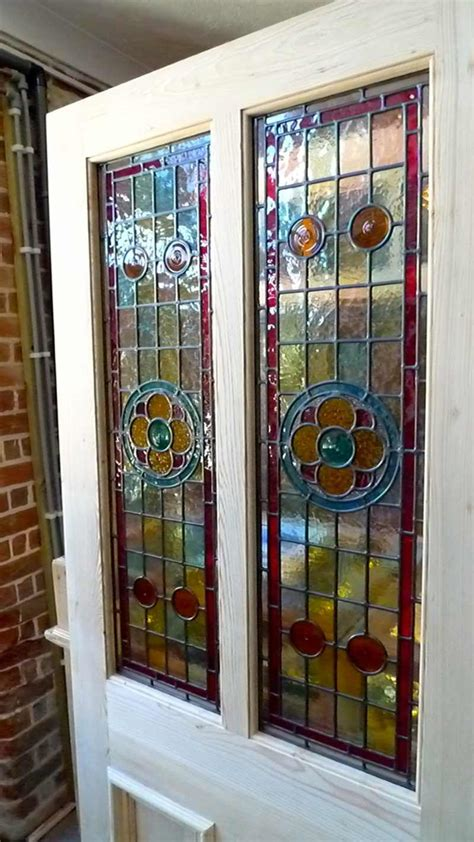 Stained Glass Designs For Doors A Beautiful Style 2 Panel Stained Glass Front Door Stained Glass Doors Company