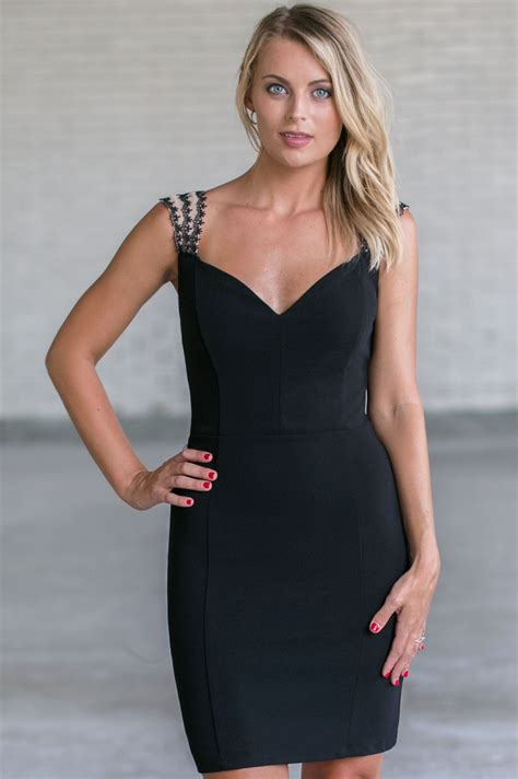 black cocktail dress black party dress